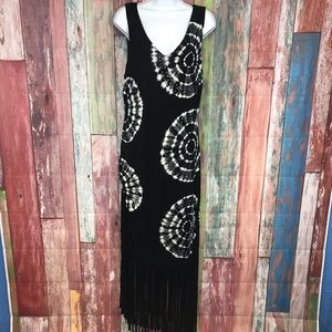 NWOT INC Beautiful rye-dye Maxi Dress